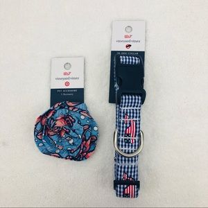 Vineyard Vines For Target Whale Dog Collar + Bow